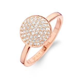 Grace ring medium - sterlingsølv rosa forgyldt