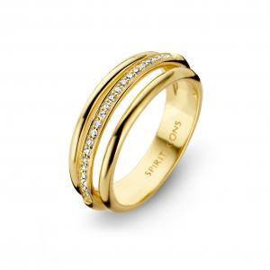 Arch ring - 14 kt. hvidguld med diamanter