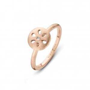 Flora Chic ring - sterlingsølv rosa forgyldt